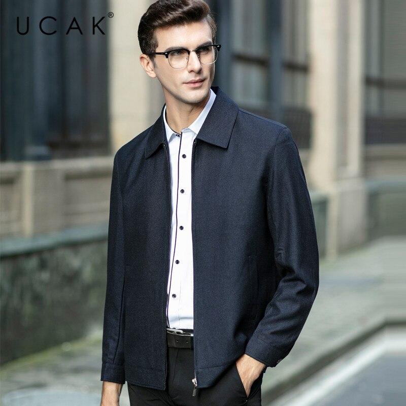 UCAK Brand Fashion Jackets Men Free Shipping Plaid Tops Casual Chaquetas Hombre New Spring Coat Streetwear Jacket  Men U8051