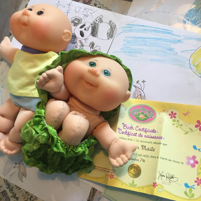21cm  Lovely Cabbage Patch Kids Baby Doll Bounces Back Collects Birthday Gifts For Girls