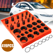 купить 419pcs/set Rubber Washer Universal O-Ring Assortment Set Metric Kit Car Seal Rubber Gasket with Box дешево