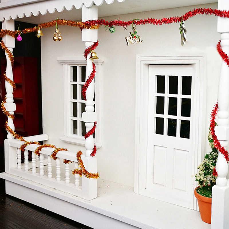1:12 دمية مصغرة لتقوم بها بنفسك المشارب الزخرفية لبيوت الدمية زينة عيد الميلاد