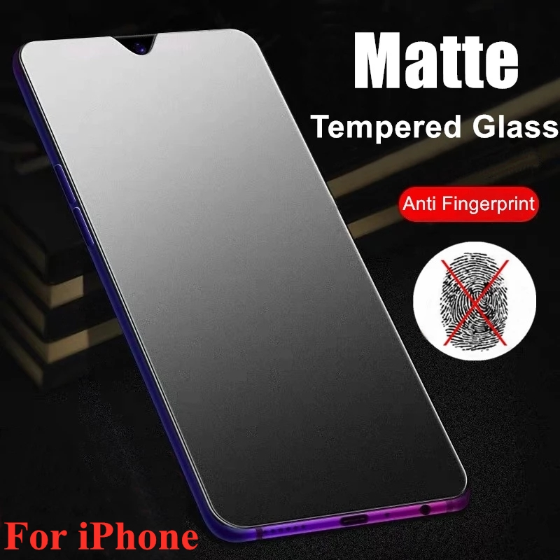 Matte Tempered Glass for IPhone 11Pro 11 Pro Max XS 6 Plus iPhone 12 ProMax SE Screen Protector Film Mobile Phone Accessories