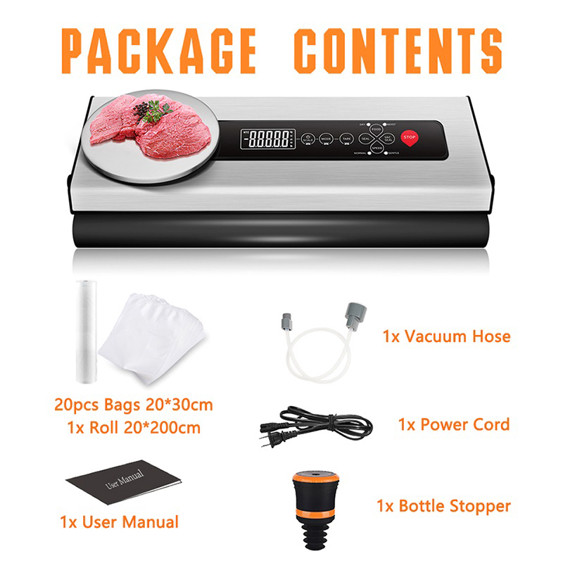 Купить с кэшбэком LAIMENG Vacuum Sealer Machine With Food Vacuum Bags Packaging For Vacuum Packer Packing For Sous Vide Vacuum Food Sealer S145