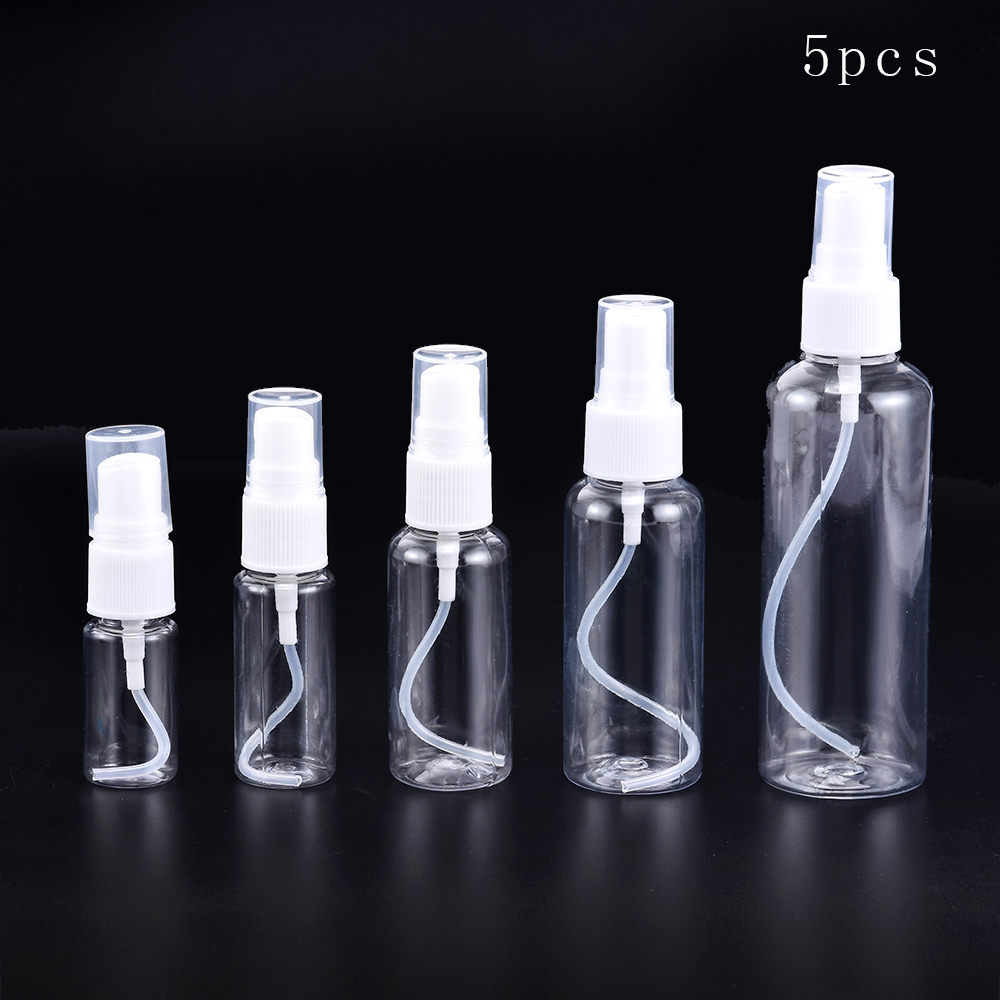 10/20/30/50/100ml Refillable Bottles Travel Transparent Plastic Perfume Bottle Atomizer Empty Small Spray Bottle Toxic Free Safe