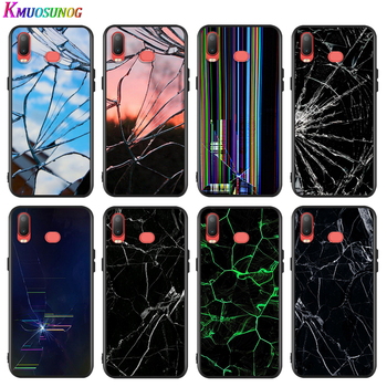 Craked screen For Samsung Galaxy A9 A8 Star A8S A7 A6 A6S A5 A3 Plus 2018 2017 2016 A750 Soft Phone Case image