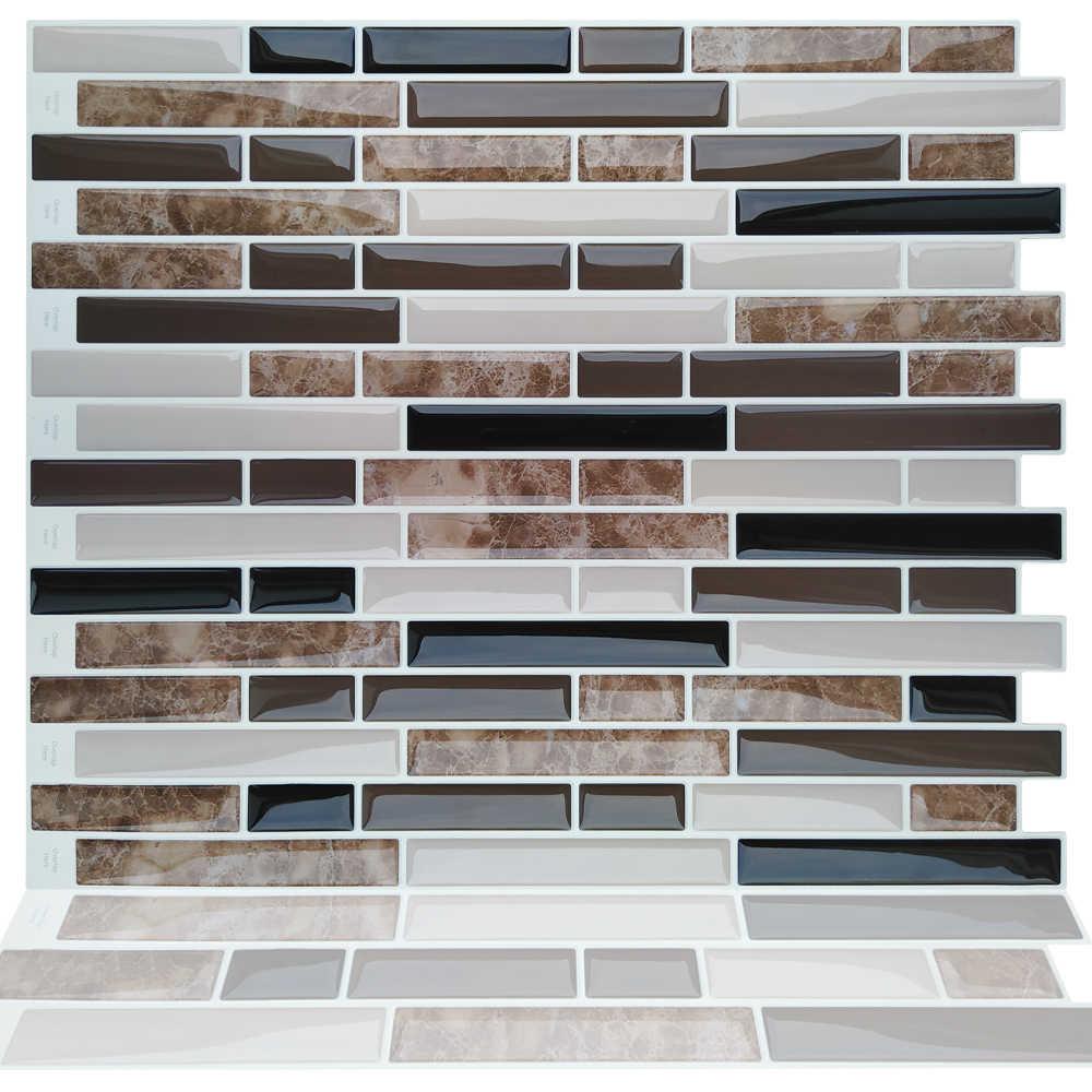 - Self Adhesive Mosaic Marble Backsplash Wall Vinyl Bathroom