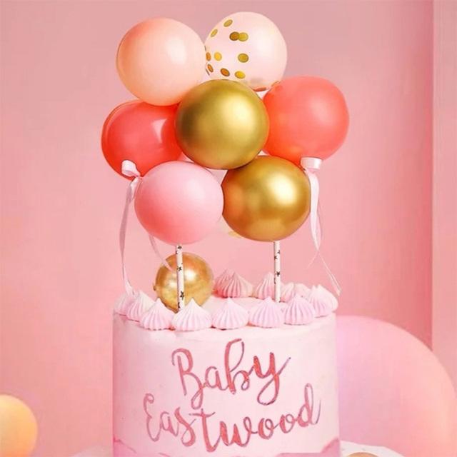 סט מדהים של 10 יח' בלונים קטנים לקישוט עוגות וימי הולדת 2