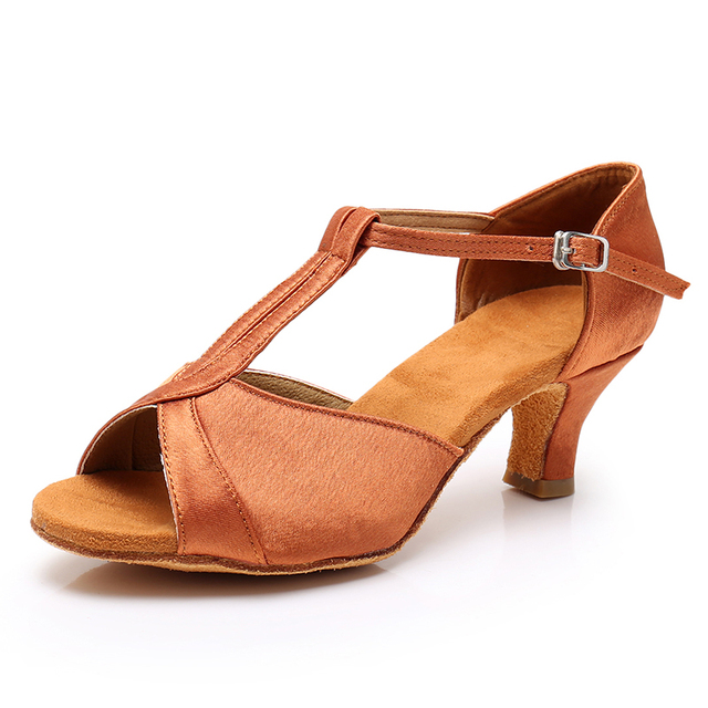 HIPPOSEUS Latin Dance Shoes for Women with Closed Toe Lace up Ballroom Latin Salsa Tango Dance Practice Shoes Low Heel,Model L318