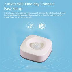 WiFi inteligentny domowy czujnik ruchu PIR bezprzewodowy czujnik podczerwieni system antywłamaniowy do użytku domowego do użytku biurowego