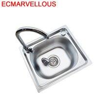 Pia da cozinha cozinha lavabo lavabo fregadero de cocina torneira gourmet evier cuba integral inoxidável