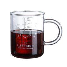 2021 New Caffeine Beaker Mug Graduated Beaker Mug with Handle  Borosilicate Glass Cup