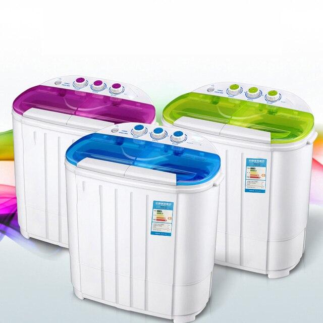 Machine à laver à usage domestique semi-automatique 220V 3.6KG Double baril cylindre laveuse Mini vêtements outils de lavage appareils ménagers