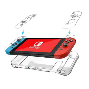Image 2 - Crystal Transparent Clear PC Hard Case Protective Cover Shell for Nintend Switch Console Joy Con Controller Full Body Protector