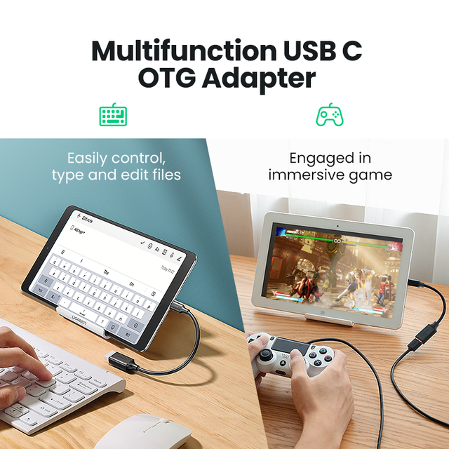 Ugreen USB C to USB Adapter OTG Cable USB Type C Male to USB 3.0 2.0 Female Cable Adapter for MacBook Pro Samsung Type-C Adapter 5
