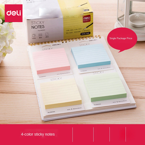 Post-it Notes Memo Pad Sticky Notes Creative N-time Stickers Cute Fresh Color Pagination Label Book Office Stationery Supplies