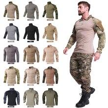 17 цветов, Мужская Боевая рубашка, военные армейские рубашки, уличная тактическая футболка, походная форма, новая походная охотничья камуфляжная футболка