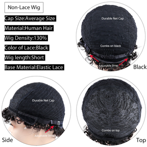 Image 5 - Short Pixie Wig Bouncy Curl Human Hair Wig 6inch 8inch Summer Sale No Lace Closure Wig Natural Color For Women Free Shipping