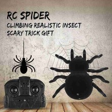 Remote Control Simulation Spider Scary Trick Toy RC Wall Climbing Spider Halloween Gifts Remote Control Spider Animal Prank Toy
