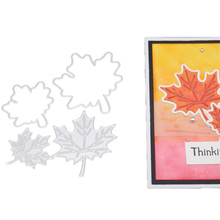 Maple Leaf Frame Metal Cutting Dies Leaves Stencil Scrapbooking Photo Album Card Paper Embossing Craft DIY