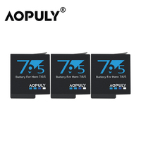 3Pc/lot Gopro 5 Hero 5 Battery 3.85V 1600mAh AHDBT 501 Rechargeable Batteries Akku for AHDBT 501 Gopro Hero 5 Camera Accessories