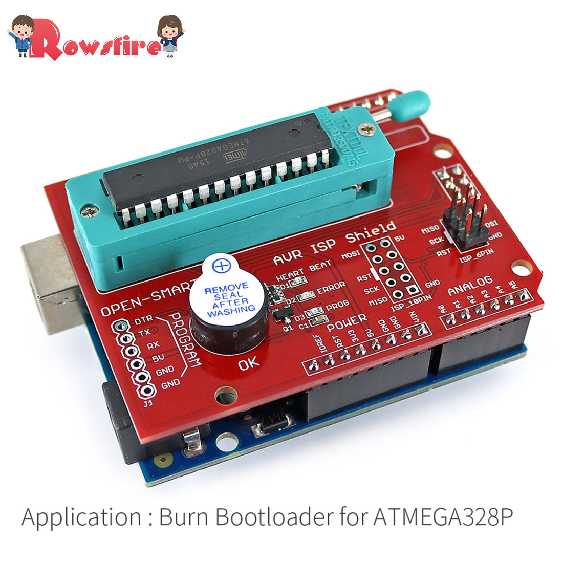 Free Shipping 1 Pcs AVR ISP Shield Burning Bootloader Programmer For Arduino R3 High Quality Parts