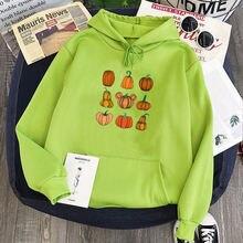 Осенний свитер на Хэллоуин пуловеры с принтом больших размеров