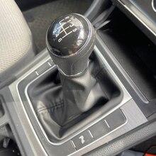 Carro 5 6 velocidade para vw golf 7 a7 mk7 gti gtd 2013 2014 2015 2016 2017 2018 vara de engrenagem nível shift knob capa couro do plutônio
