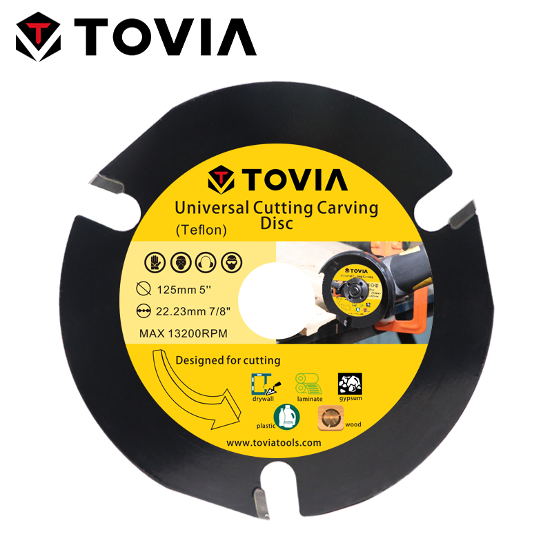 TOVIA 125mm Circular Saw Blade Cutting Wood Carbide Saw Blade 115mm Toothed Multitool Saw Disc For Angle Grinder Blackcutter