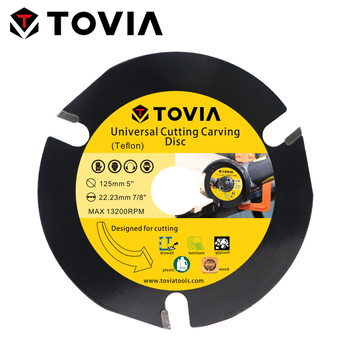 цена на TOVIA 125mm Circular Saw Blade Cutting Wood Carbide Saw Blade 115mm Toothed Multitool Saw Disc For Angle Grinder Blackcutter