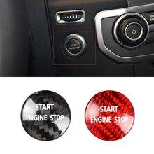 Engine-Button-Sticker Land-Rover Real-Carbon-Fiber Red/black for 4 V8 SHE 1pcs Stop Start