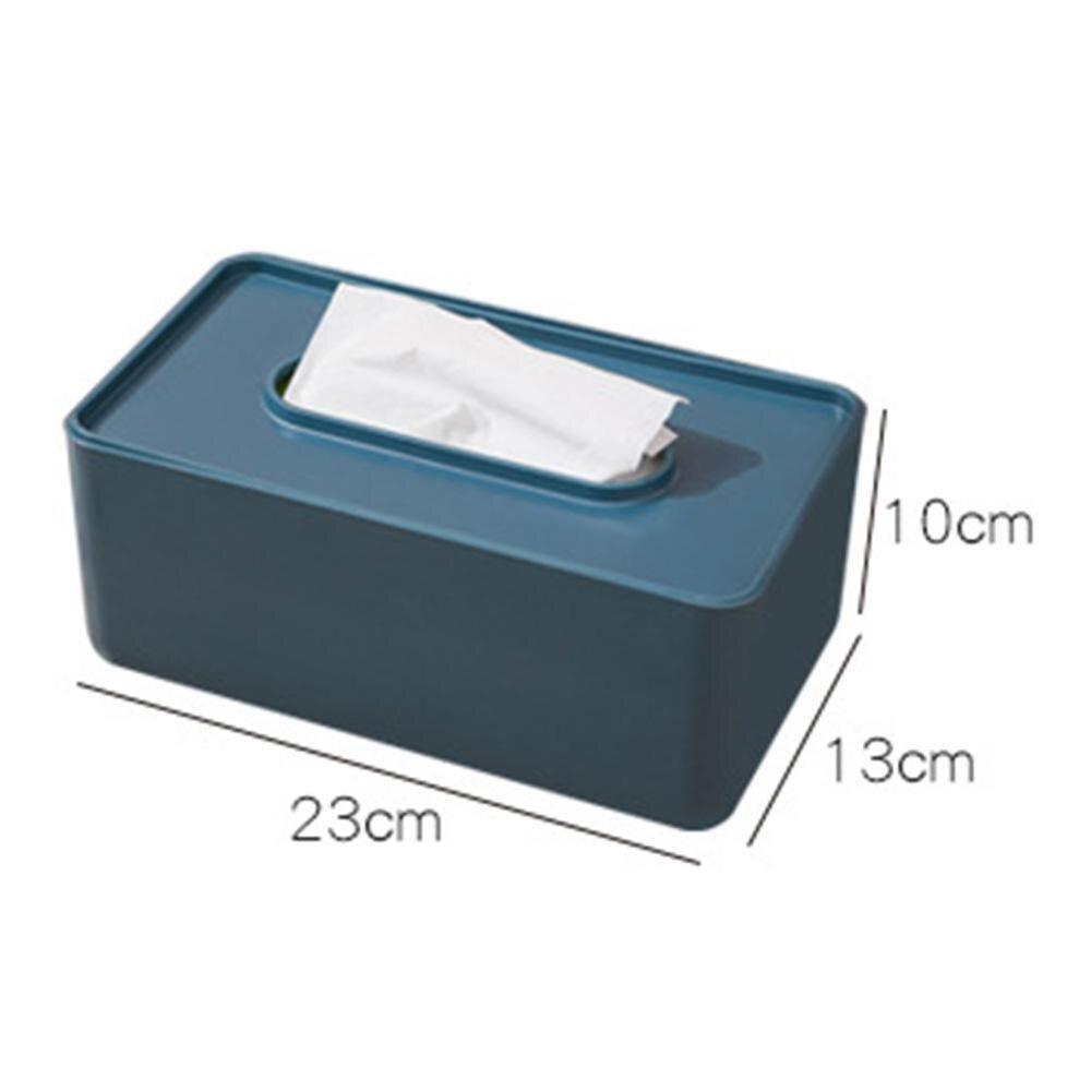 Многофункциональная Пластиковая Коробка для салфеток в скандинавском стиле, чехол для бумажных полотенец, органайзер для домашнего стола, товары для дома - Цвет: 2