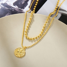 2021 New high quality Double Layer Star Moon Necklace Women Clavicle Chain Fine Jewelry Party Wedding Accessories