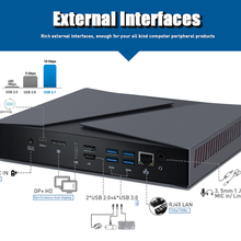 PC gamer компьютер для игровых мини-ПК Intel Core i9 i7-9750H i5-9300H GTX 1650 4GBComputer настольных компьютеров Windows 10 с разрешением 4K HDMI DP Тип-C