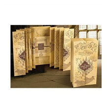 Harrio Magic Wolrd Cosplay Potter Retro Paper Treasure Map Home Office Collection Gift School Decoration