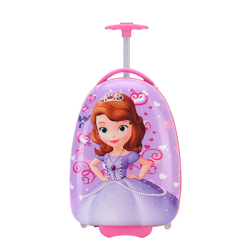 HOT 16 Inch Lovely Cartoon Trolley Case Kids Travel Students Travel Luggage Spider-Man Children Anime Eggshell Girl Suitcase