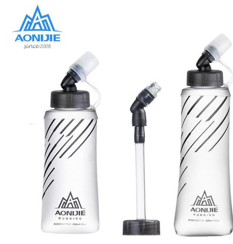 AONIJIE TPU Outdoor Water Bottle Hiking Soft Flask Sports Cycling Running Water Hydration Bottle Water Kettle 170/250/500ML