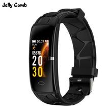 جيلي مشط الرياضة الرجال ساعة ذكية ip67 قياس ضغط الدم عداد الخطى الذكية الفرقة مقاوم للماء النساء Smartwatch اللياقة البدنية المسار