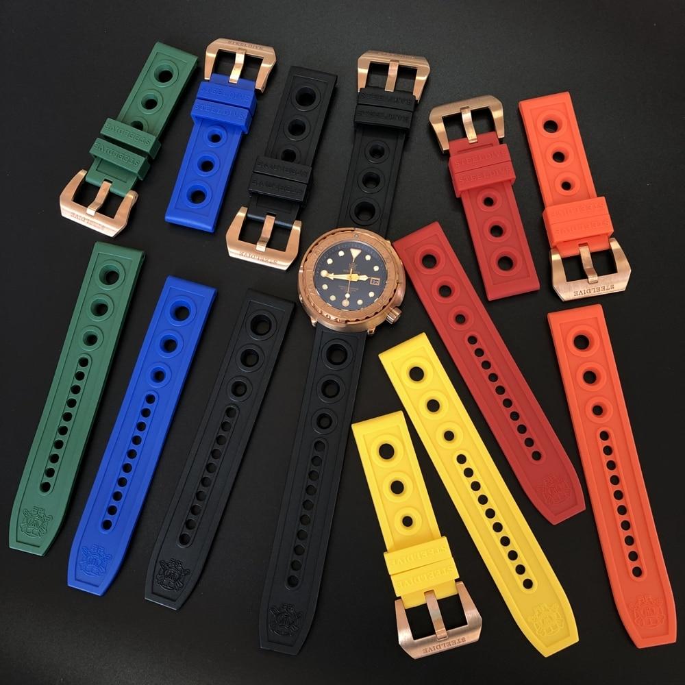 22 mm peças relógio completo escovado adaptação