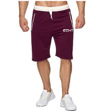 2020 Summer Casual Men's Shorts Solid Color Letter Printed Y