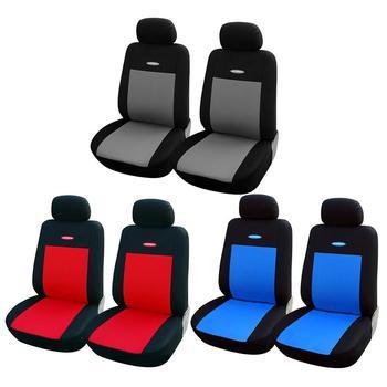 2 sztuk zestaw uniwersalne pokrowce na siedzenia samochodowe myjka akcesoria wewnętrzne przednie pokrycie siedzenia samochodu ciężarówki Van tanie i dobre opinie Cztery pory roku Uciekają Tkaniny 30cm cover 1 2kg Podstawową Funkcją 10cm Car Seat Cover mesh cloth Gray Blue Red