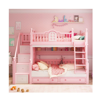 Foshan Modern Oak Wood Children 3 Foors Bed With Stairs Bunk Beds Kids Bedroom Furniture Sets For Boys Girls Buy At The Price Of 1 900 00 In Aliexpress Com Imall Com