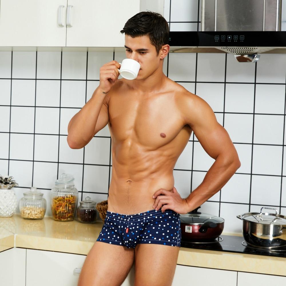 Roupa interior masculina da marca sleep-bottoms casa masculina casual confortável respirável masculino solto cueca boxer-shorts de algodão
