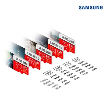 כרטיסי זכרון של סמסונג 64GB 32 GB  128GB 256GB 2