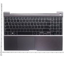 QH New palmrest for SAMSUNG NP 700Z5 NP700Z5A NP700Z5B NP700Z5C Upper Case US Keyboard with Housing Laptop Touchpad Silver