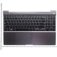 QH nowy podpórce pod nadgarstki dla SAMSUNG NP 700Z5 NP700Z5A NP700Z5B NP700Z5C wielkie litery US klawiatura z obudową laptopa Touchpad srebrny