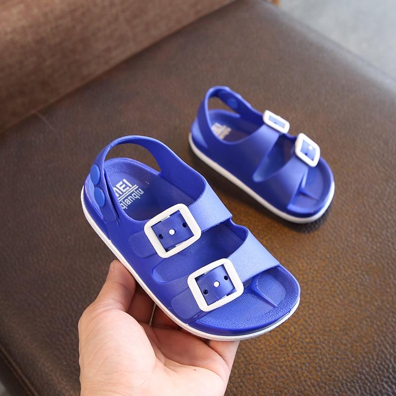 Summer Kids Beach Sandals For Boys Casual Soft Non-slip Flat Sandals Outdoor Sport Children Shoes Sandalia Infantil 1-5Y  B0001