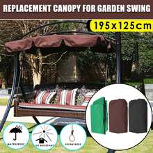 Summer Waterproof Top Cover Canopy Replacement Shade for Garden Courtyard Outdoor Swing Chair Hammock Canopy Swing Chair Awning