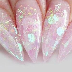 1 box AB Color Flakes Nail Sequins Ultra Thin Star/Flower/Triangle Slider for Flakes Glitter Nail Art Decor UV Gel DIY TRAB01-15(China)