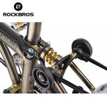 ROCKBROS – amortisseur de vélo en titane Brompton, ressort de Suspension arrière de vélo, pièces de cyclisme vtt