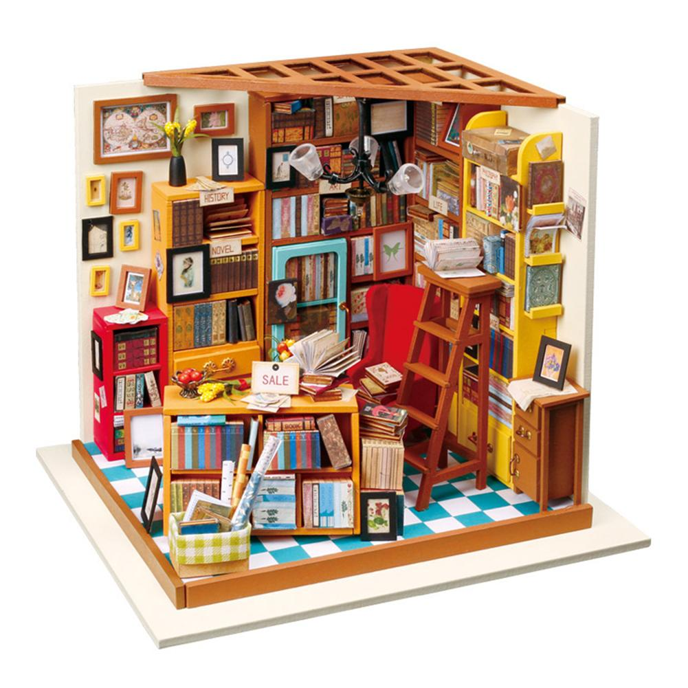 Diy Small Doll House Bookstore Educational Assembled Model