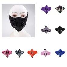 Унисекс ветрозащитная туманная дымка пыль Половина маска для лица фильтр с активированным углем рот муфельная